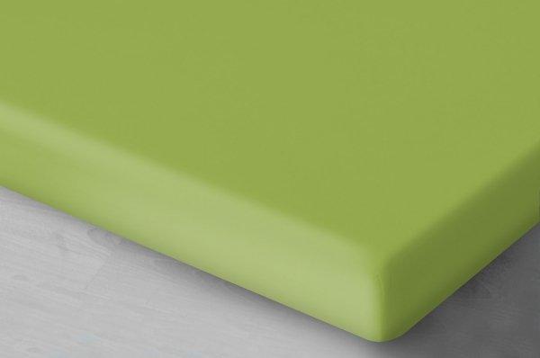 Pastelowo zielone prześcieradło Jersey 160x200 Oritex