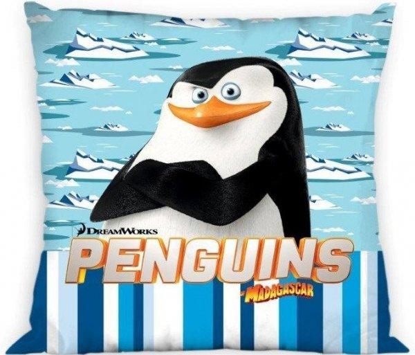 Poszewka dla dzieci Pingwiny z Madagaskaru 40x40 cm Faro