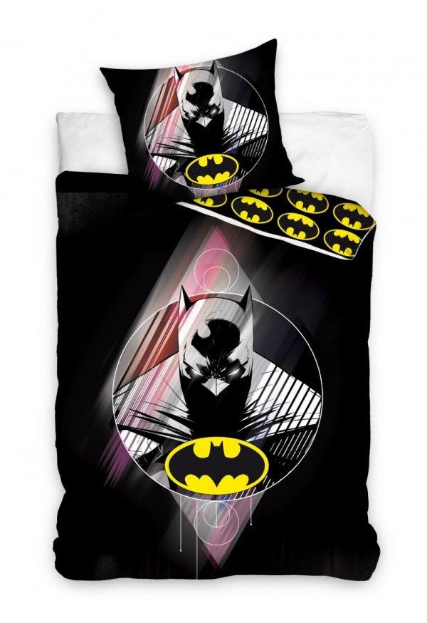Pościel Batman 160x200 Czarna 100% bawełna Carbotex