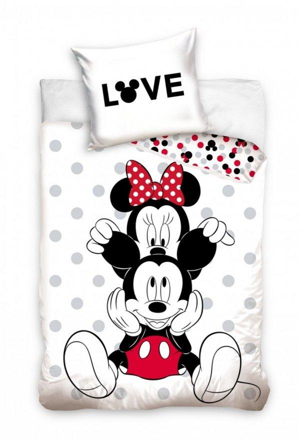 Pościel dla dzieci i Młodzieży Myszka Mickey i Minnie 160x200