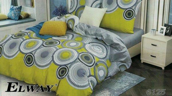 Szaro - Żółta pościel 200x220 Elway