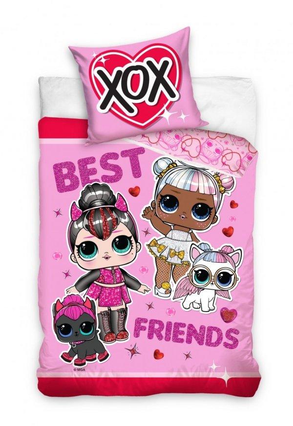 Pościel dla dziewczynki LoL 160x200 Różowa Carbotex