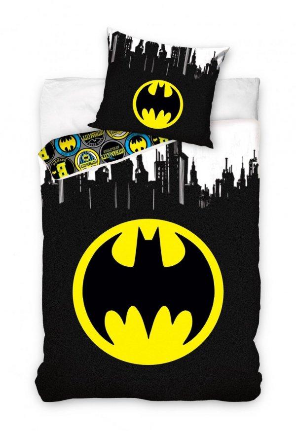 Czarna pościel Batman dla dzieci i młodzieży 160x200 cm Carbotex