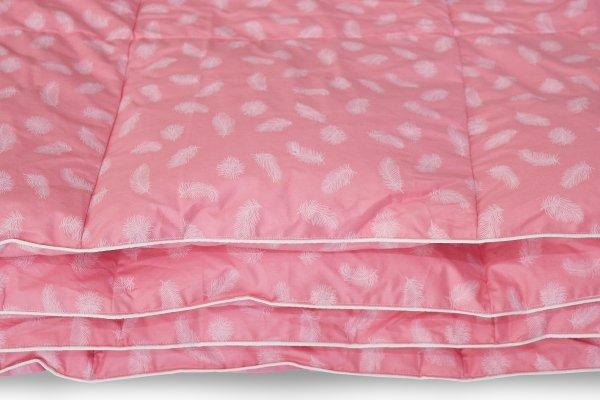 Kołdra pióra gęsie darte ręcznie 200x220 Różowa w piórka