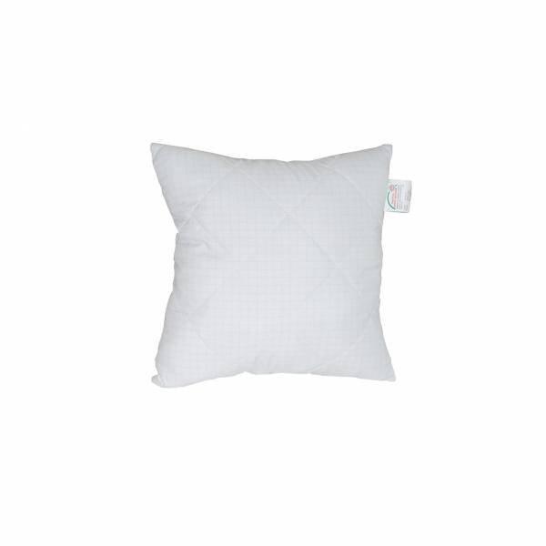 Antyalergiczna poduszka pikowana 40x40 cm z zamkiem Calma Poldaun