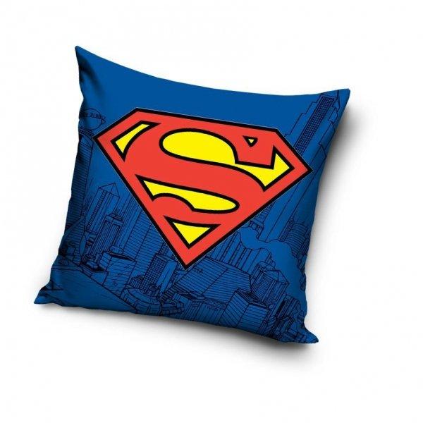 Niebieska poszewka Superman 40x400 cm 100% bawełna