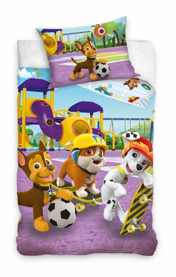 Pościel dla dzieci Psi Patrol 140x200 Carbotex 100% bawełna PAW 203021