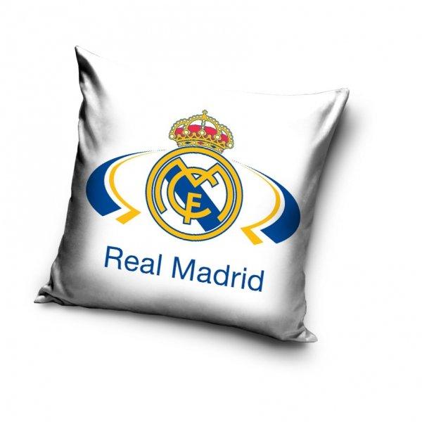 Poszewka z Piłką Nożną Real Madryd 40x40 cm Carbotex 100% bawełna
