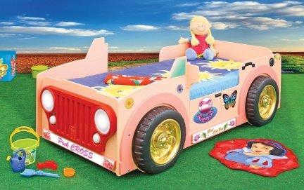 Łóżko dziecięce Jepp Pink