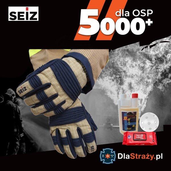Zestaw 7. Rękawice pożarnicze SEIZ FIRE-FIGHTER PREMIUM S PBI ze ŚD CNBOP - 10 par + gratisy