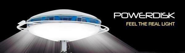 Oświetlenie pola akcji PowerDisk moc 50 000 lm 230V sterowanie Bluetooth