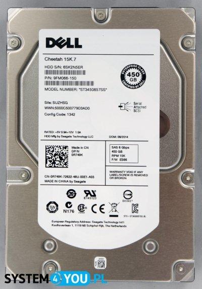 Dell 450GB SAS6, 15K, 3.5, Seagate Eagle