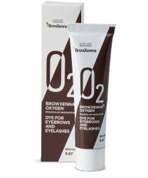 BrowXenna® OXYGEN O₂ Dye for eyebrows and eyelashes Brown #5.67