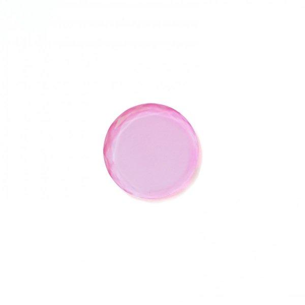 Podstawka kryształowa w kolorze jasnoróżowym