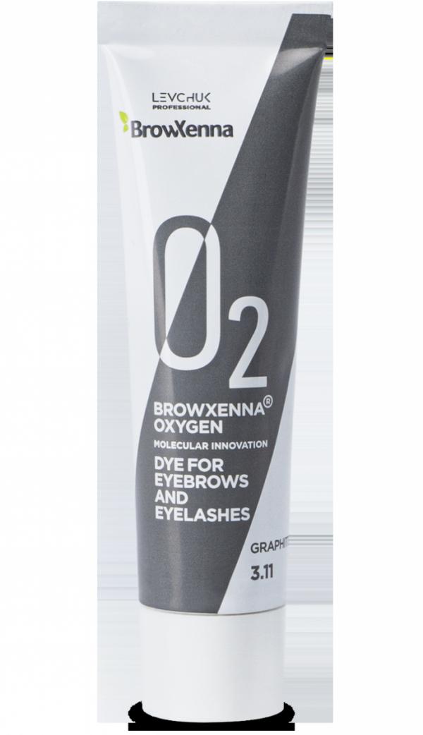 Farba do brwi i rzęs BrowXenna® OXYGEN O₂ Graphite #3.11