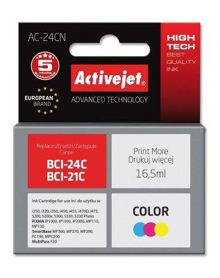 Tusz Activejet AC-24CN (zamiennik Canon BCI-24C; Supreme; 16.5 ml; kolor)