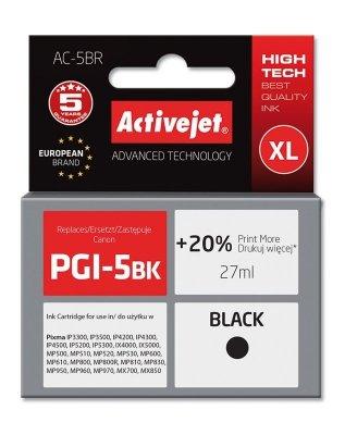 Tusz Activejet AC-5BR (zamiennik Canon PGI-5BK; Premium; 27 ml; czarny)
