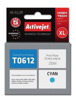 Tusz Activejet AE-612R (zamiennik Epson T0612; Premium; 20 ml; niebieski)