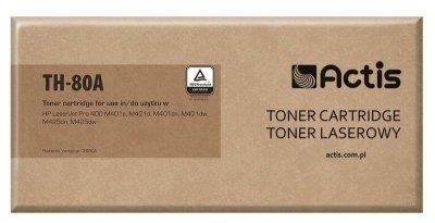 Toner ACTIS TH-80A (zamiennik HP 80A CF280A; Standard; 2700 stron; czarny)