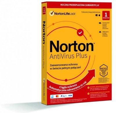 Norton Antivirus Plus 1D/12M BOX - WYMAGA KARTY