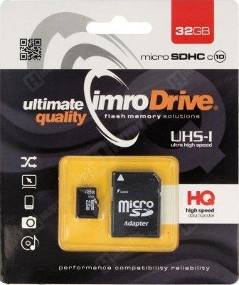 IMRO 10/32G UHS-I ADP pamięć flash 32 GB MicroSDHC Klasa 10