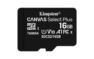 Karta pamięci Kingston Canvas Select Plus SDCS2/16GBSP (16GB; Class 10, Class A1; Karta pamięci)
