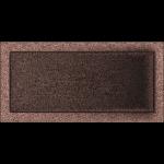 KRATKA kominkowa 22x45 miedziana malowana
