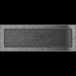 KRATKA kominkowa 17x49 czarno-srebrna