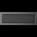 KRATKA kominkowa 17x49 czarno-srebrna z żaluzją