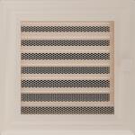 KRATKA kominkowa OSKAR 17x17 kremowa z żaluzją