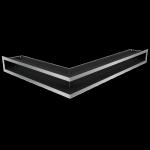 Kratka kominkowa LUFT narożny prawy szlif 54,7x76,6x9