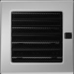 KRATKA kominkowa 17x17 niklowana z żaluzją