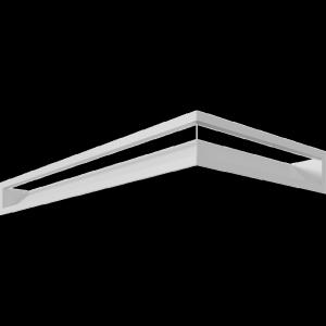 Kratka kominkowa LUFT SF narożny lewy biały 80x40x9