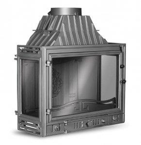KAWMET Wkład kominkowy Retro-W3 - 3 szyby 16,7 kW
