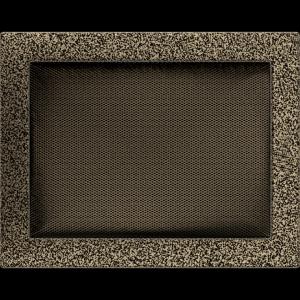 KRATKA kominkowa 22x30 czarno-złota