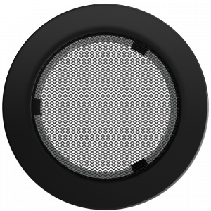 KRATKA kominkowa okrągła czarna  fi 150