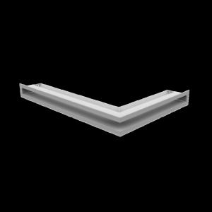 Kratka kominkowa LUFT SF narożny lewy biały 60x40x6
