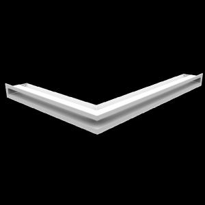 Kratka kominkowa LUFT narożny prawy biały 54,7x76,6x6