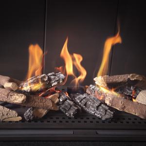 Elementy ozdobne drewienka ceramiczne do wkładów gazowych
