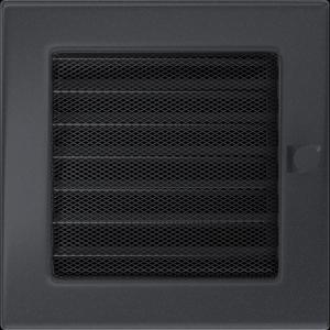 KRATKA kominkowa 17x17 grafitowa z żaluzją
