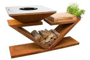 Palenisko-grill ogrodowy Artiss G5 corten