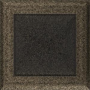 KRATKA kominkowa OSKAR 17x17 czarno-złota