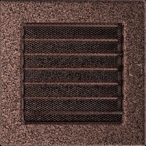 KRATKA kominkowa 17x17 miedziana z żaluzją