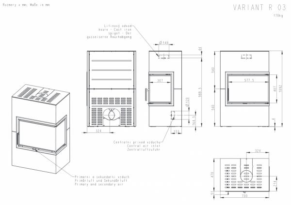 ROMOTOP Variant 03 L + moduł dolny i 2 górne 19 cm i 38 cm
