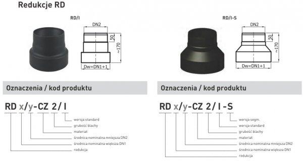 Redukcja zmniejszająca z rury DN1 150mm