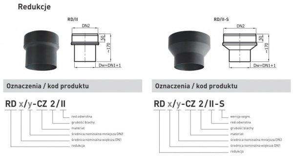 Redukcja zwiększająca z rury DN1 150mm