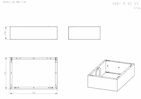 ROMOTOP Variant 03 L + 3 moduły górne