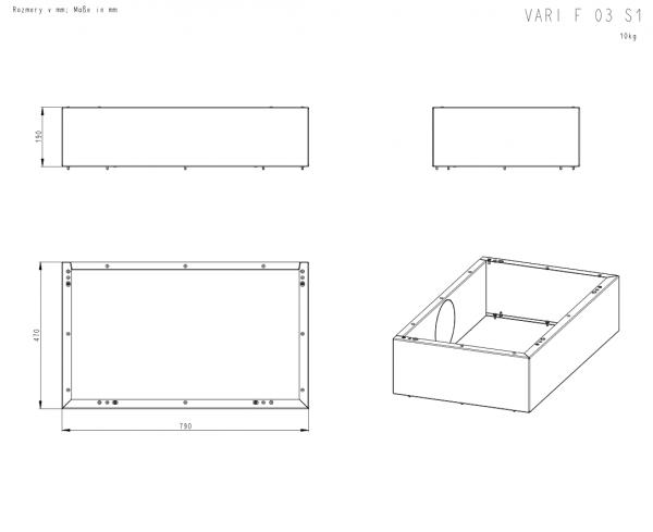 ROMOTOP Variant F podstawowy+ 2 moduły górne