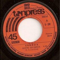 Exodus - Dotyk Szczęścia / Niedokończony Sen (7'')