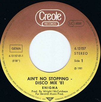 Enigma - Ain't No Stoppin' (7'')